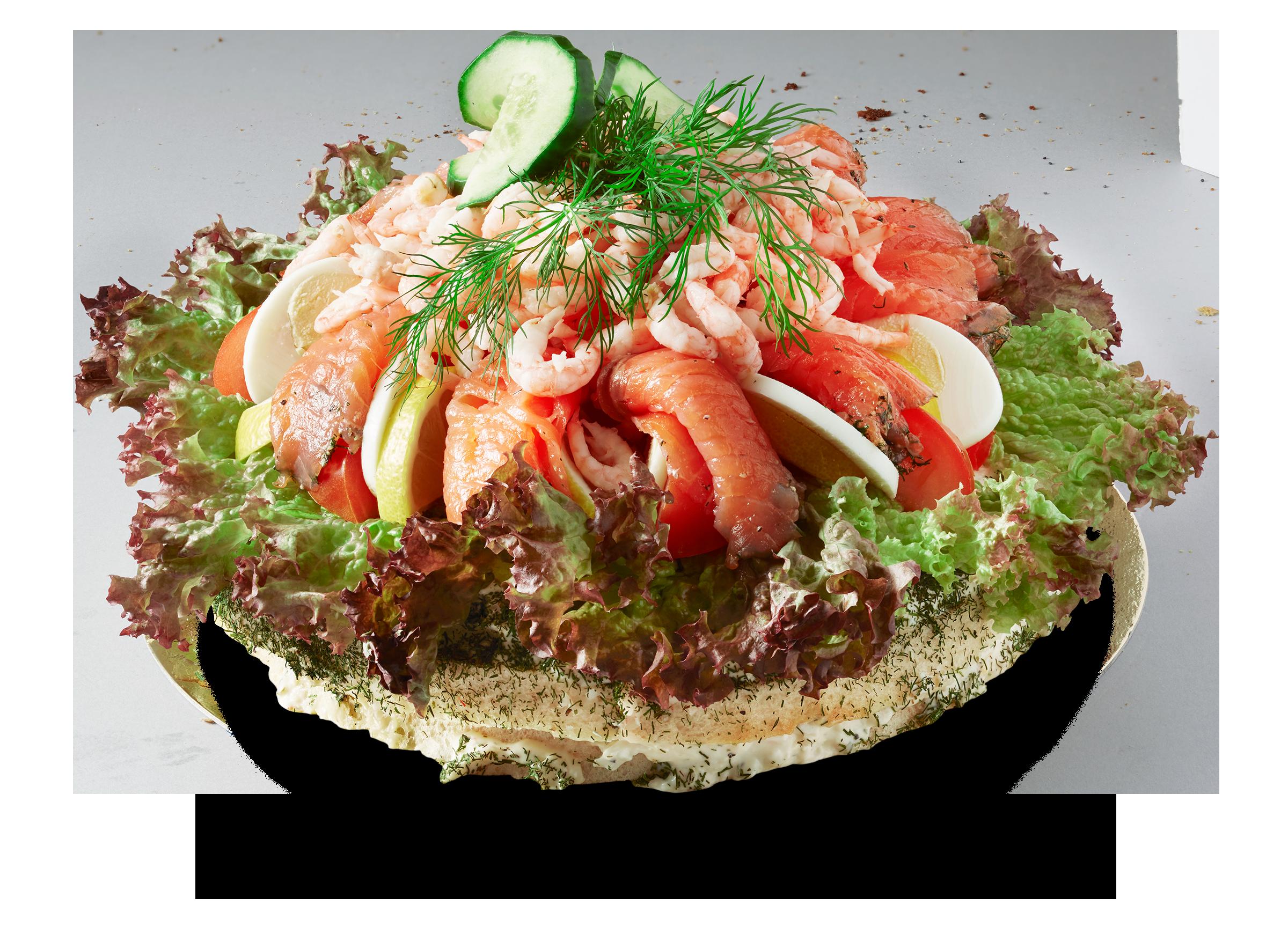 Smörgåstårta Lax & Räkor 10 b